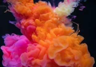 orange white and pink smoke digital wallpaper